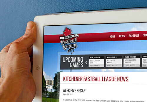 Kitchener Fastball League Website